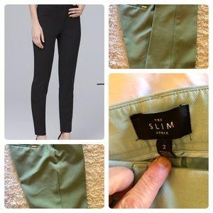 WHBM Size 2 Mint Color Slim Ankle Crop Pants